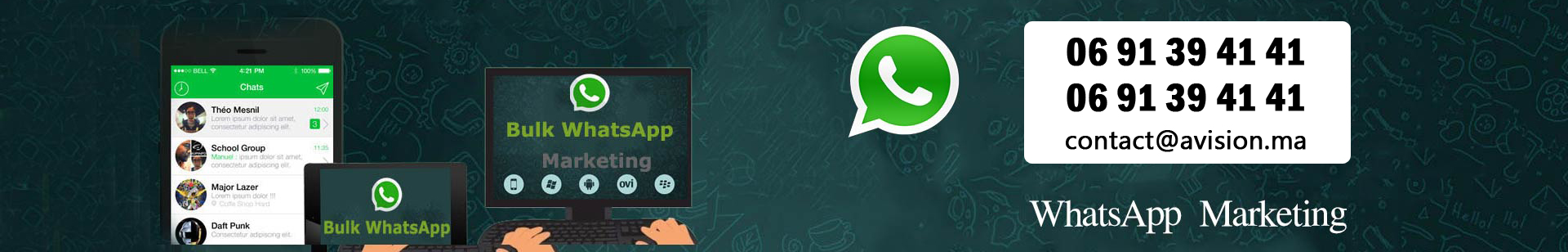 whatsapp Marketing maroc
